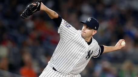 James Paxton of the Yankees pitches during the