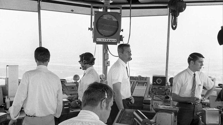 Air traffic controllersat work in the JFK airport