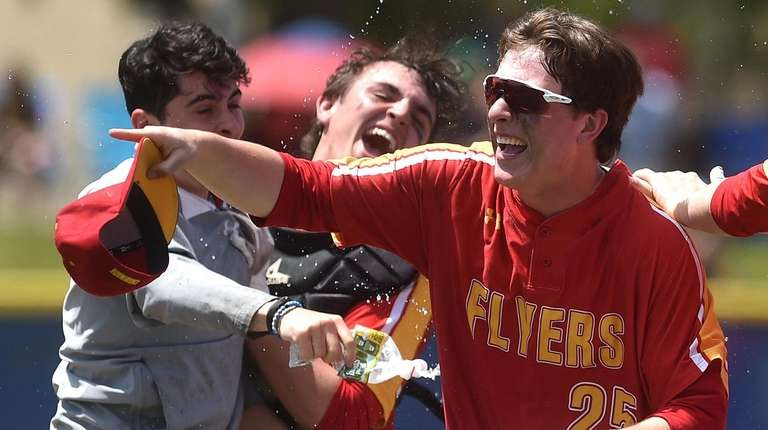 Brendan Daly and Chaminade teammates celebrate after their