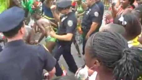 Cops at West Indian Day Parade