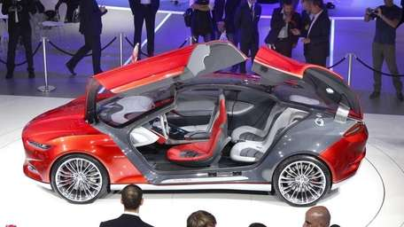 The Ford Evos concept car is presented during