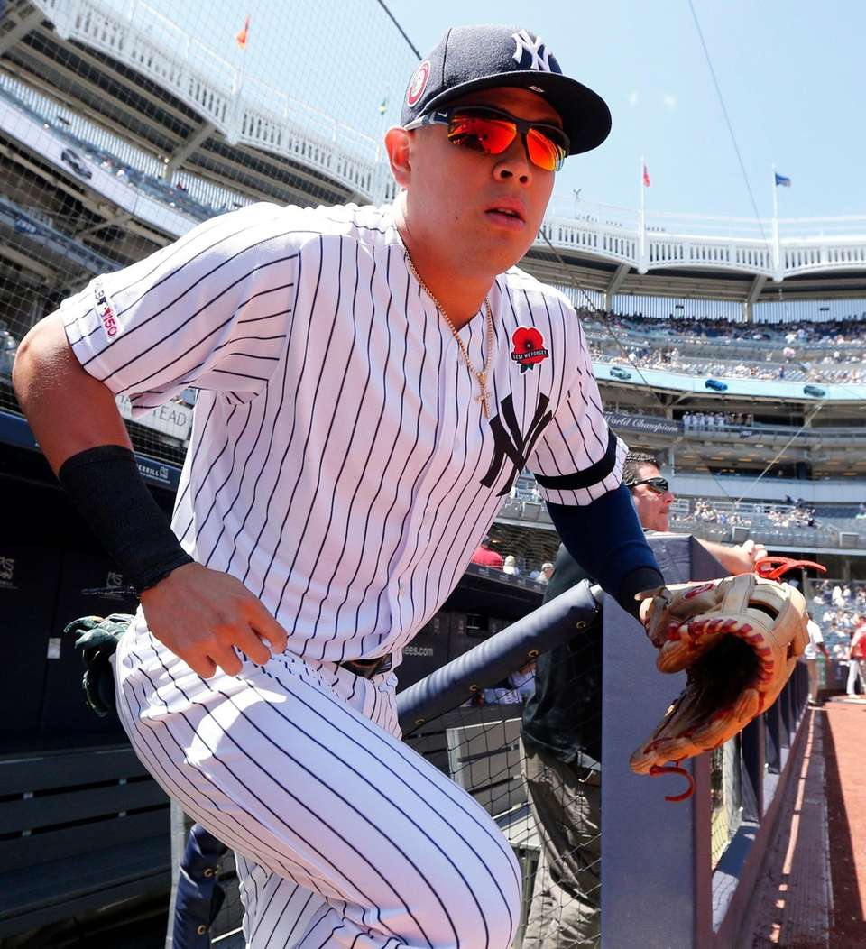 Gio Urshela #29 of the New York Yankees