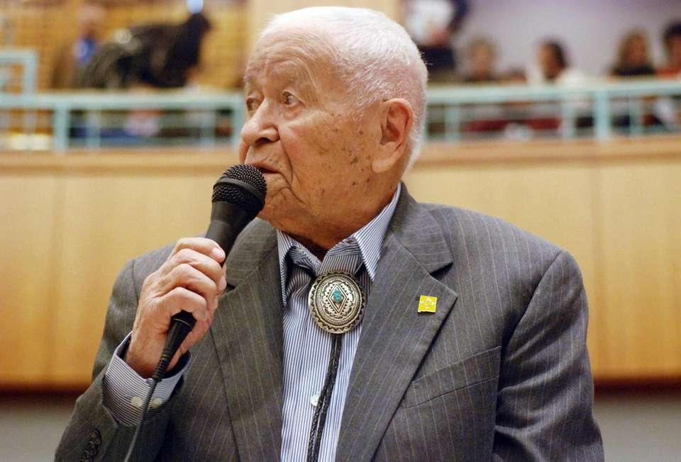 John Pinto, a Navajo Code Talker in World