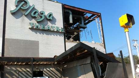 Demolition of the Patchogue Theater began Tuesday. (Sept.