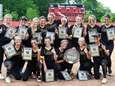 St. Anthony's softball players pose with their championship