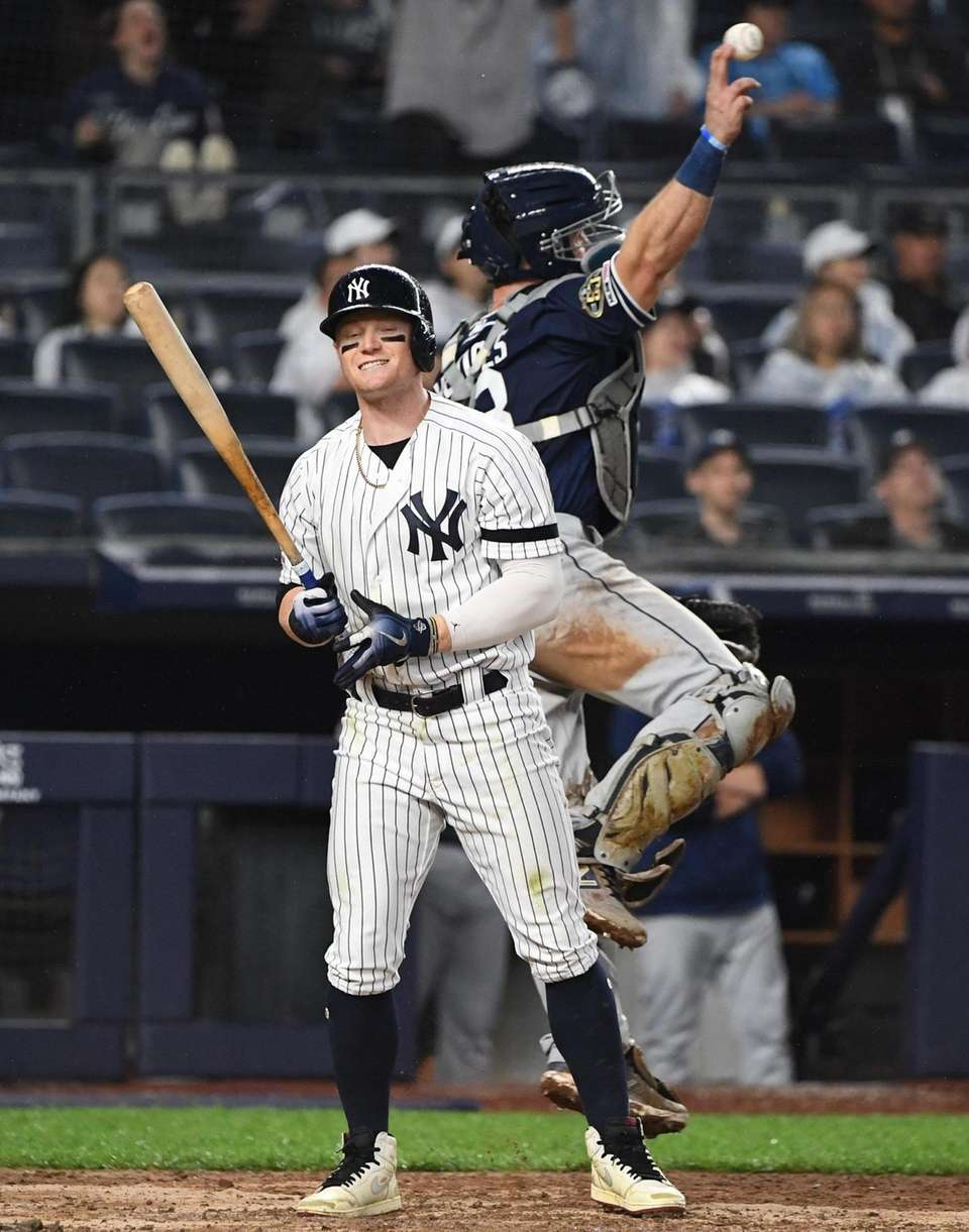 Yankees rightfielder Clint Frazier and Padres catcher Austin