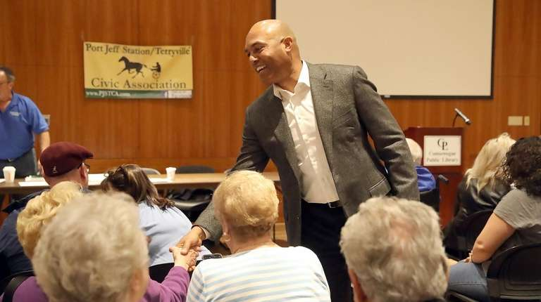 Mariano Rivera at Tuesday's meeting of the Port