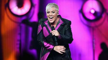 Pink performs at the Rod Laver Arena on