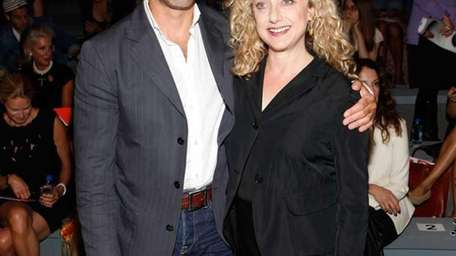 Actors Stanley Tucci and Carol Kane pose at