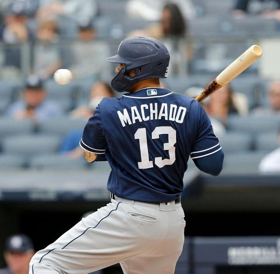 Manny Machado #13 of the San Diego Padres