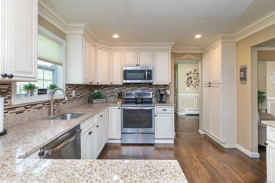 The recently renovated house includes a kitchen with
