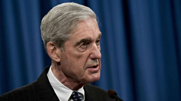 Special Counsel Robert Mueller speaks at the Department
