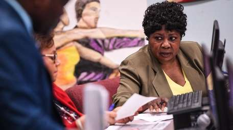 Wyandanch Superintendent of Schools Mary Jones attends the