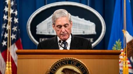 Special counsel Robert Mueller at the Justice Department