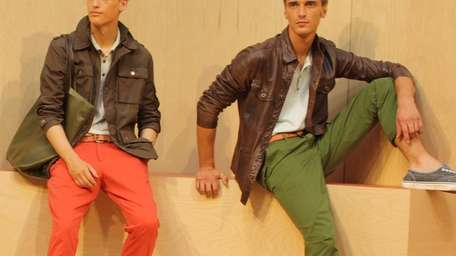 Models sport GAP's colorful Spring 2012 collection in