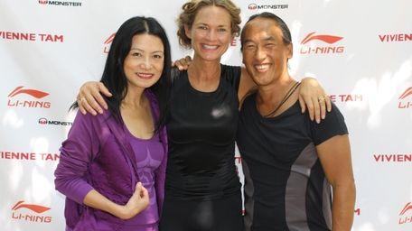Designer Vivienne Tam with Colleen Saidman Yee and