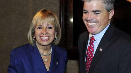 Suffolk County executive candidates Angie Carpenter and Steve