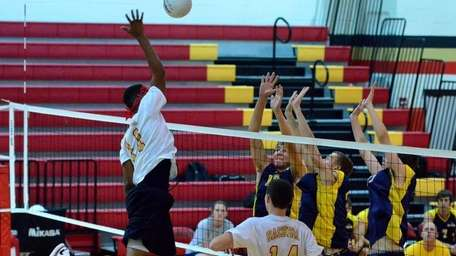 Sachem East's Randall Colson get high over the