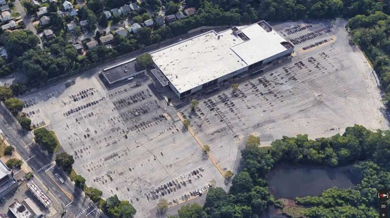 Macy's in Manhasset seen in an aerial view.