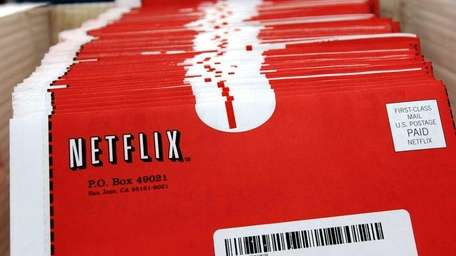 Packaged DVDs await shipment at the Netflix headquarters