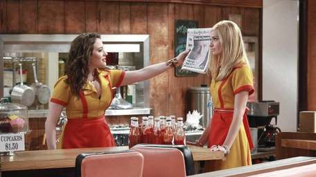 In this image released by CBS, Kat Dennings,