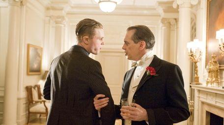 Michael Pitt and Steve Buscemi in a scene