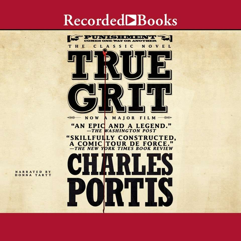 "The audio edition of ""True Grit"" by Charles"