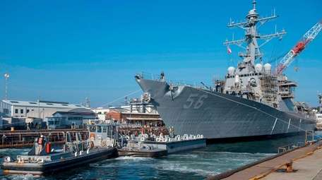 The guided missile destroyer USS John S. McCain