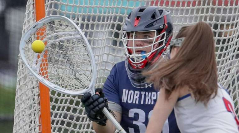 Northport's Claire Morris makes one of her 10