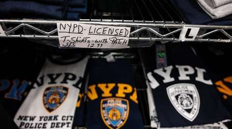 NYPD T-shirts at The Cop Shop in Massapequa