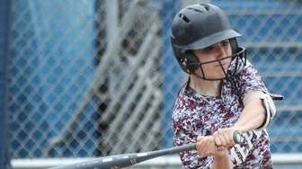 Jenna Giliberti of Mepham takes a swing during