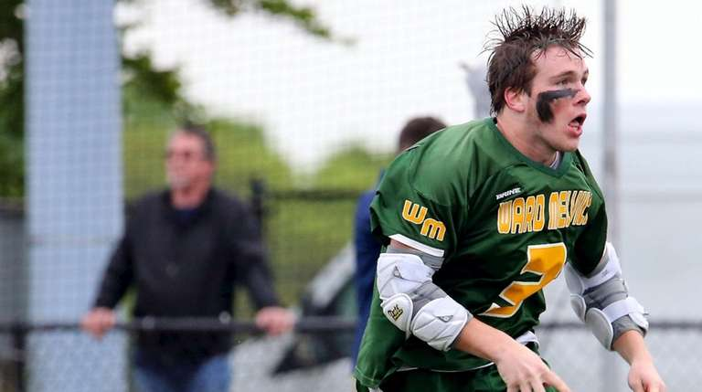 Ward Melville's Jack Gillen celebrates his game-winning overtime