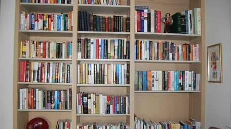 A portion of Nina Wolff's book collection at