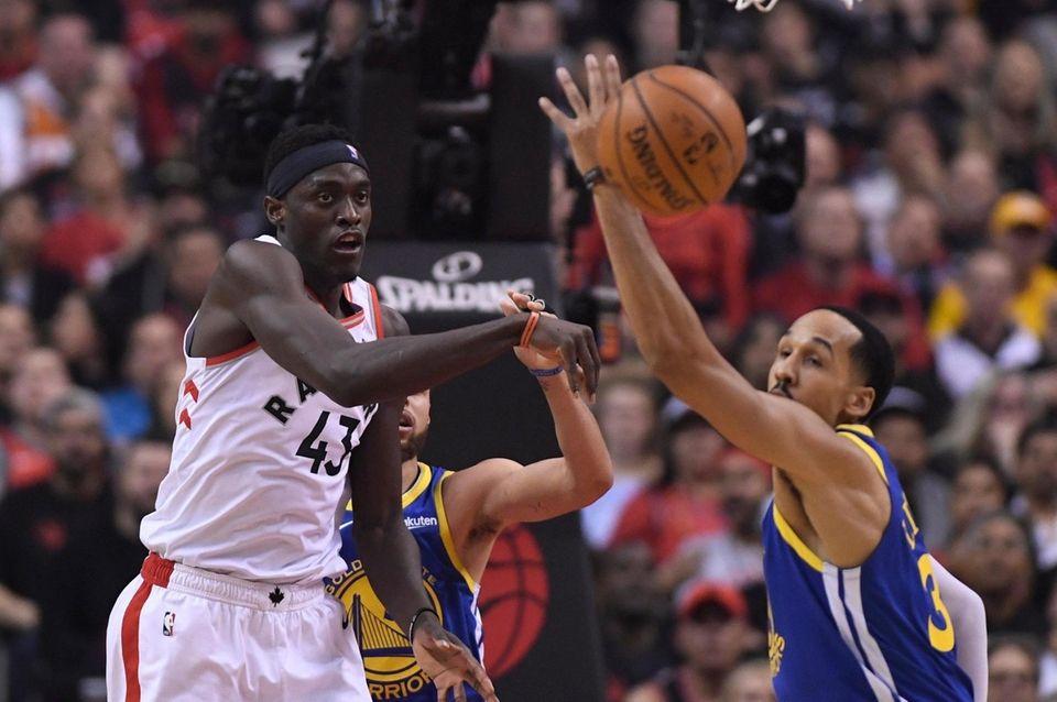 Toronto Raptors forward Pascal Siakam (43) passes the
