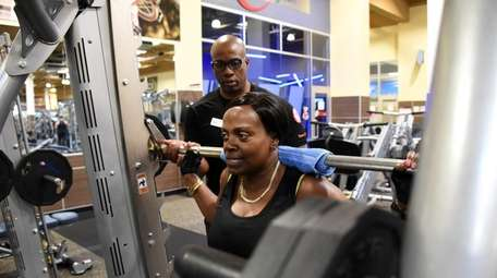 Claudia Lattibeaudiere, 54, of Amityville, trains at 24