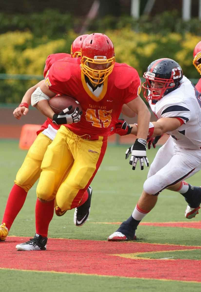 Chaminade's Brendan O'Callaghan tries to elude the grasp