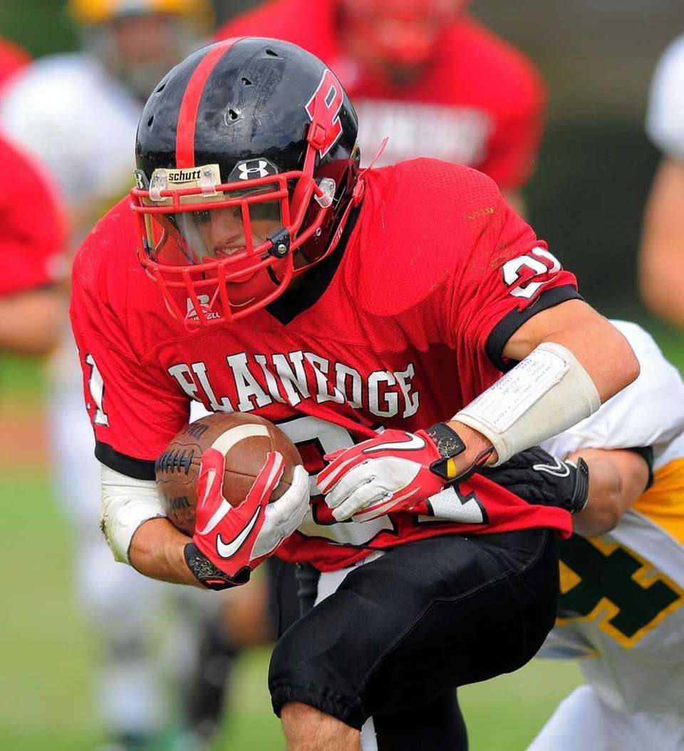 Plainedge's Ralph Caccavale during Lynbrooks 45-27 victory over