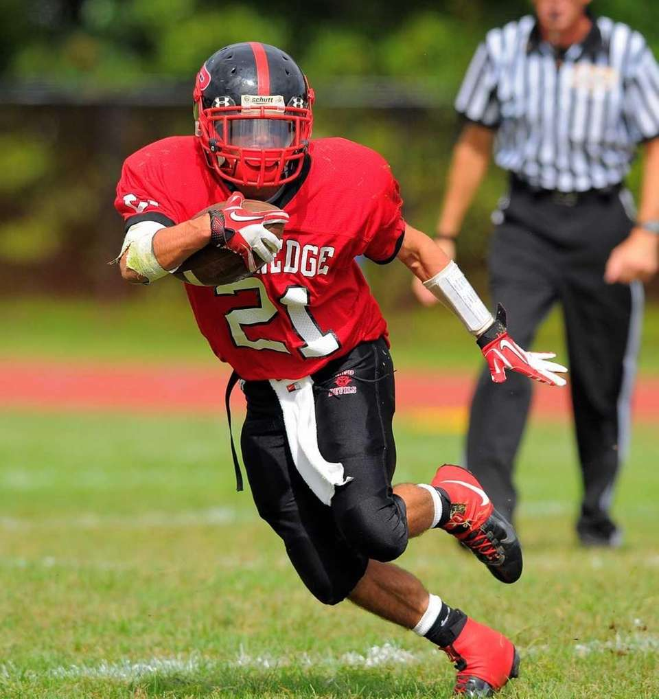 Plainedge's Ralph Caccavale during Lynbrook's 45-27 victory over