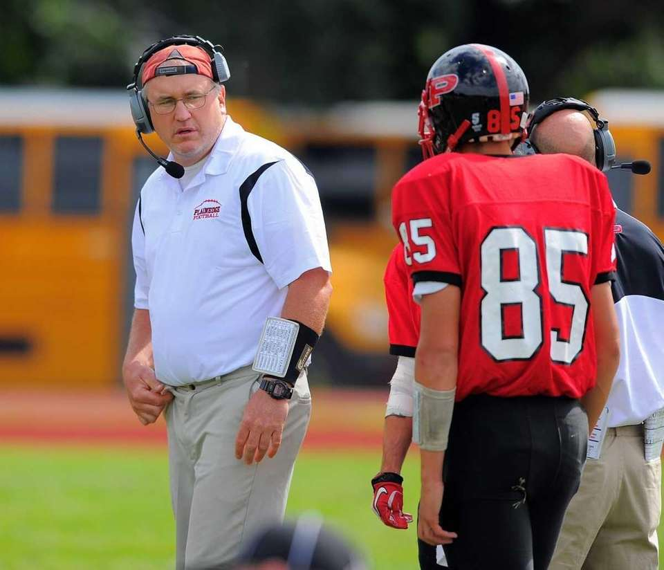 Plainedge's head coach Rob Shaver. (Sept. 17, 2011)
