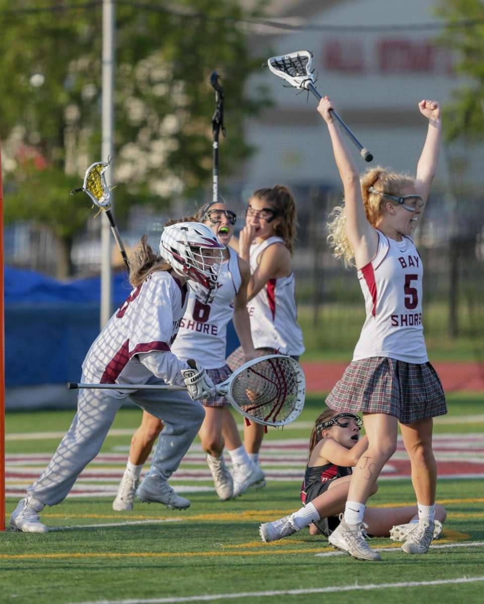 Goalie Riley Boone #33 of Bay Shore and