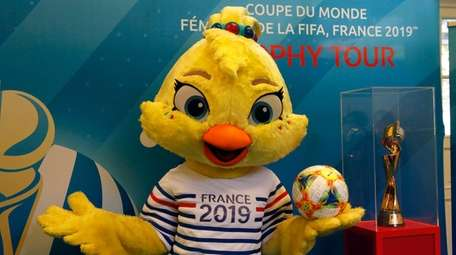 Ettie, a baby chicken, is the mascot of