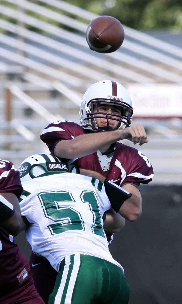 Fordham's James McHale goes over the middle against