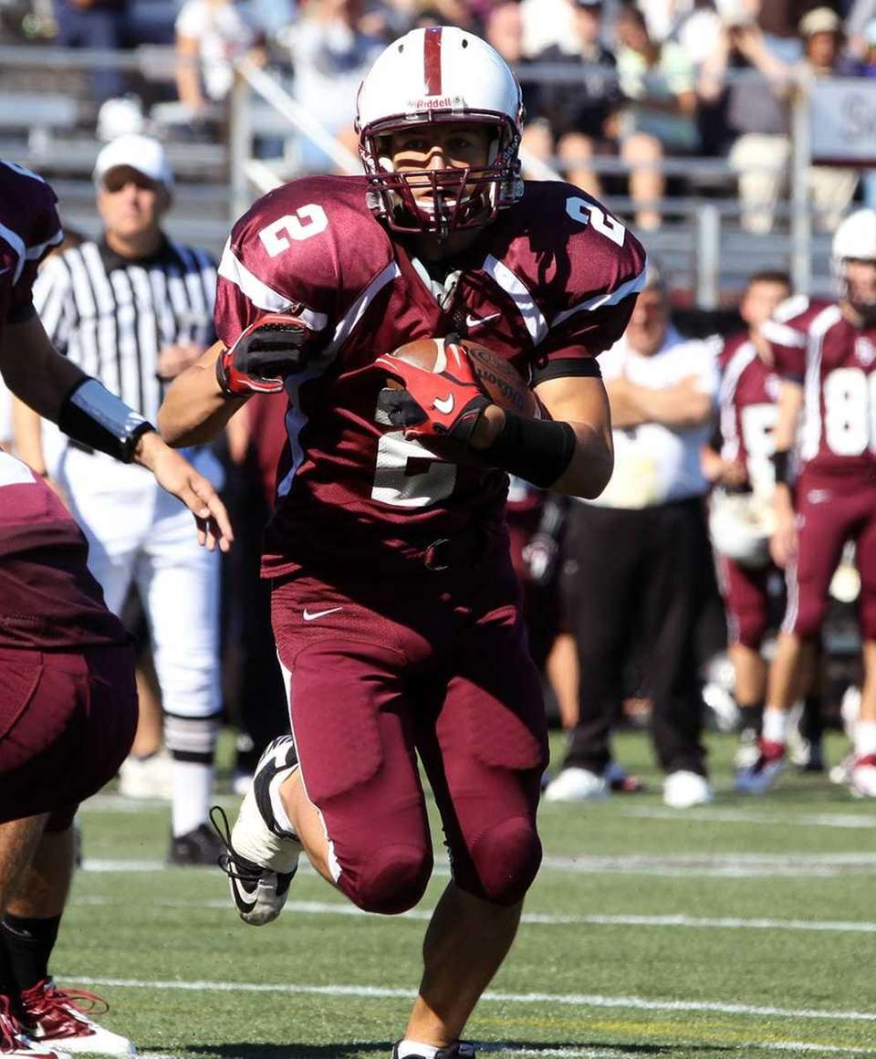Fordham's James Drago making score 19-6 with this