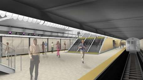 A Skansa rendering of the 7 train extension