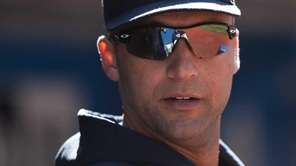 New York Yankees' Derek Jeter watches from the