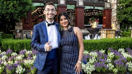 Keanu Waters and his prom date Carolann Torres