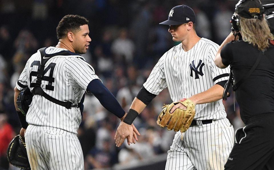 Yankees catcher Gary Sanchez and second baseman DJ