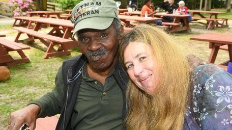 Vietnam Veteran Larry Woods, 74, with his friend