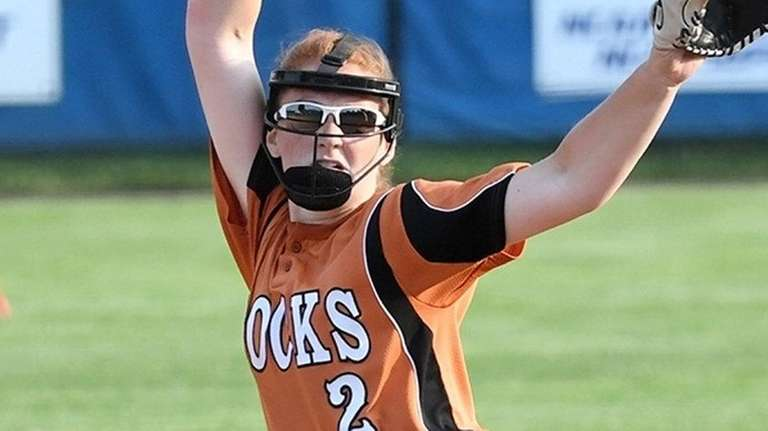 East Rockaway pitcher Emily Chelius tossed a no-hitter
