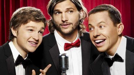 Pictured from left: Angus T. Jones, Ashton Kutcher